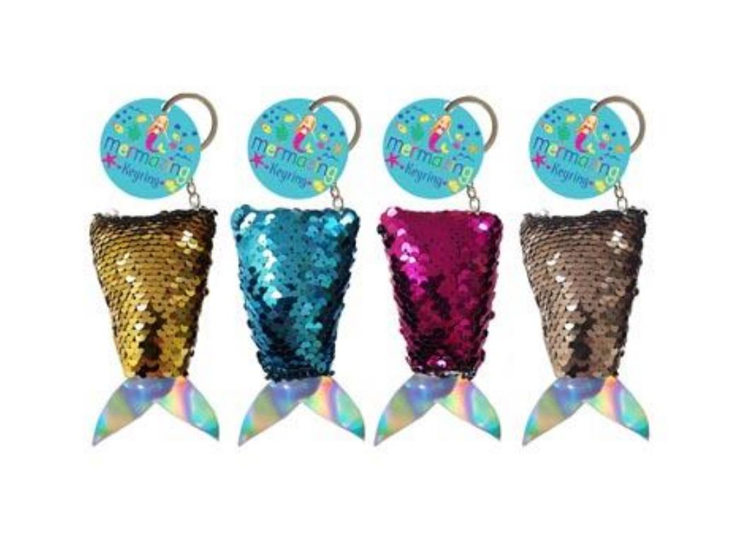 Mermaid Tail Sequin Keyring