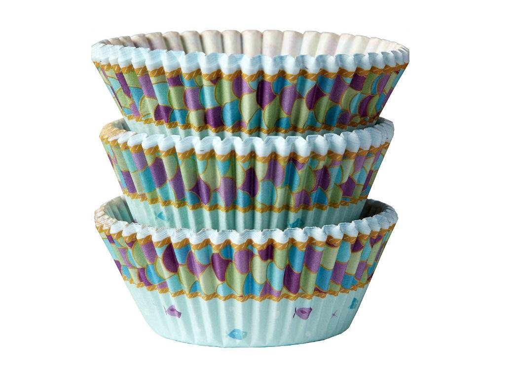 Mermaid Wishes Cupcake Cases 75pk