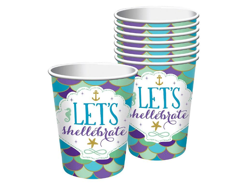 Mermaid Wishes Cups 8pk