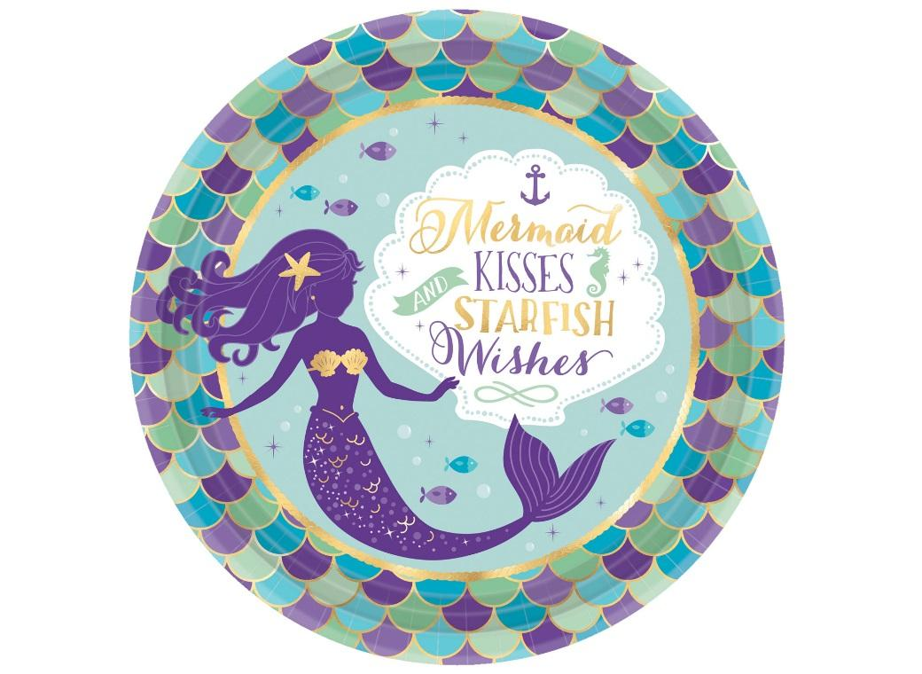 Mermaid Wishes Dinner Plates 8pk