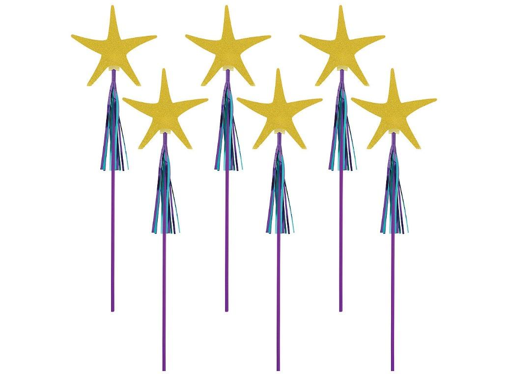 Mermaid Wishes Starfish Wands 6pk