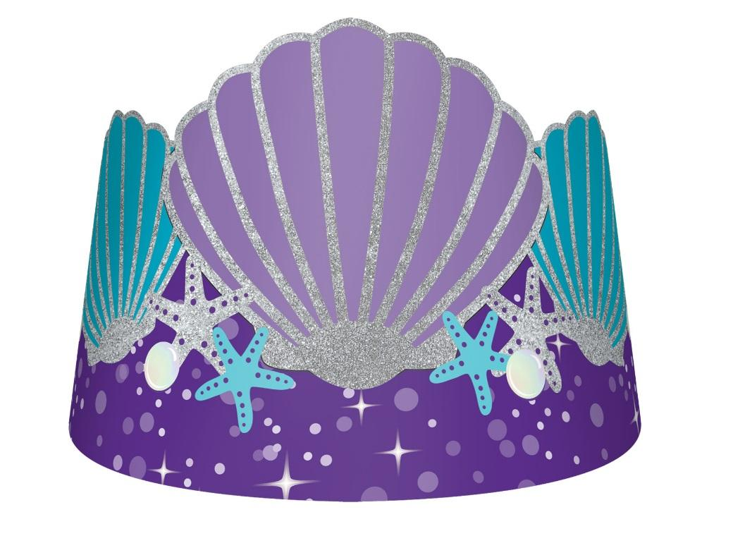 Mermaid Wishes Glitter Tiaras 8pk