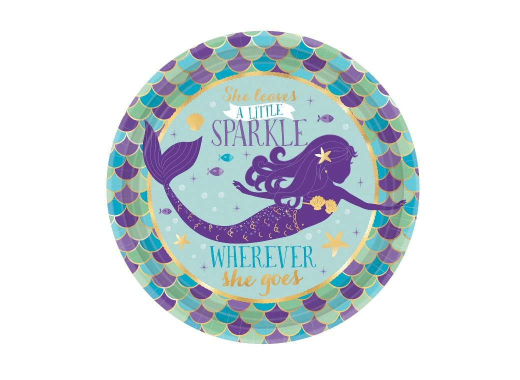 Mermaid Wishes Lunch Plates 8pk