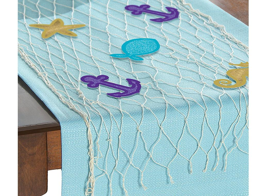 Mermaid Wishes Table Runner Decorating Kit