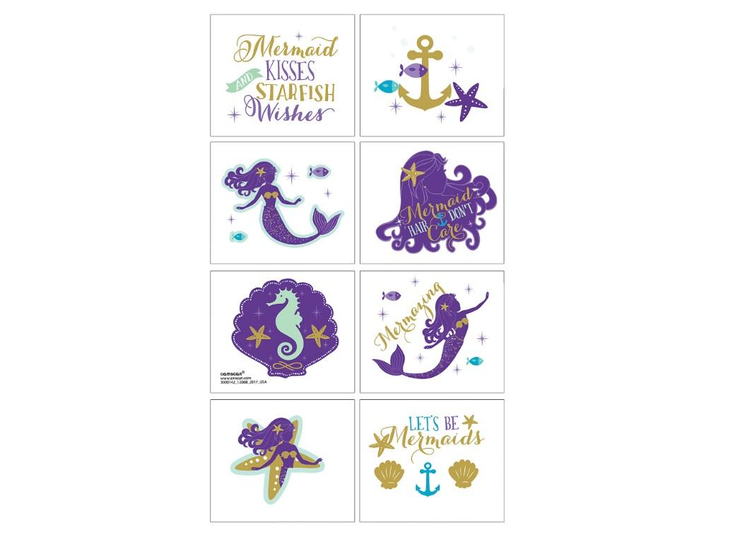 Mermaid Wishes Tattoos