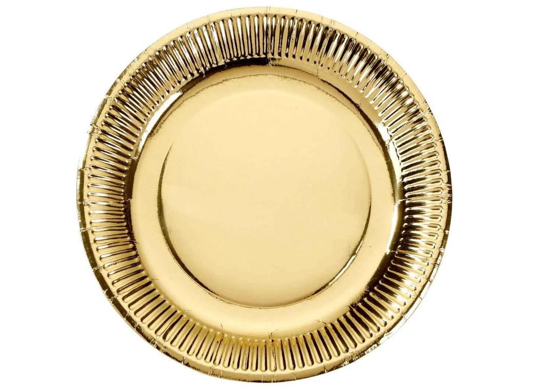 Metallic Gold Dinner Plates 8pk