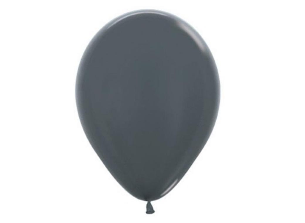 Metallic Graphite Silver Balloon - Single