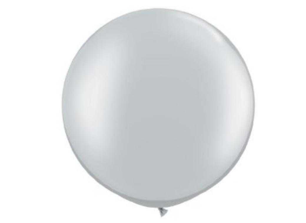 Jumbo Balloon - Metallic Silver