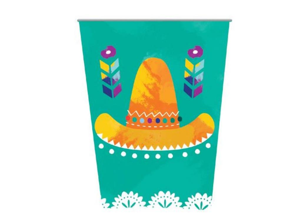 Mexican Fiesta Party Cups 8pk