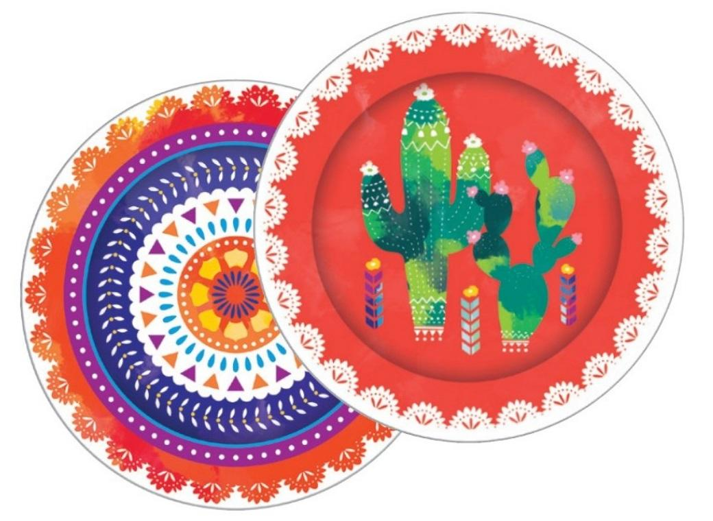 Mexican Fiesta Party Plates 8pk