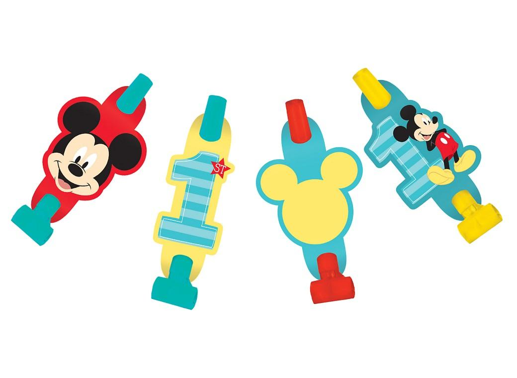 Mickey 1st Birthday Blowouts 8pk