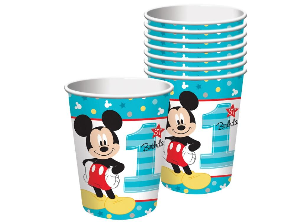 Mickey 1st Birthday Cups 8pk