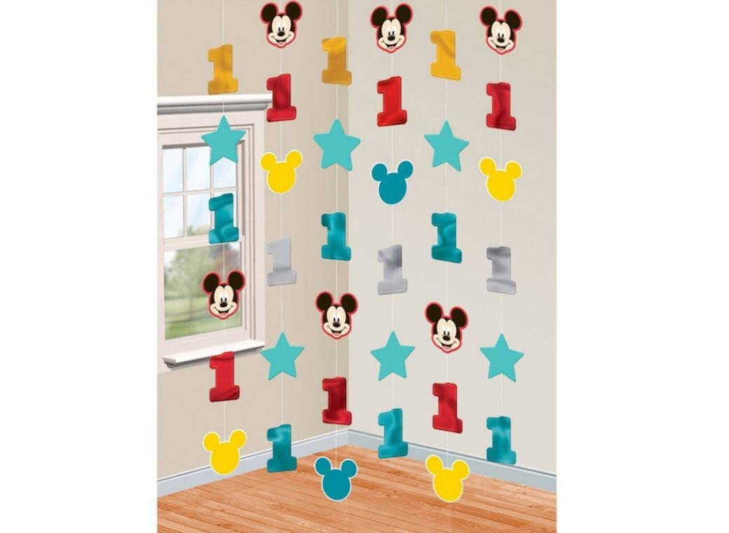Mickey 1st Birthday String Decorations