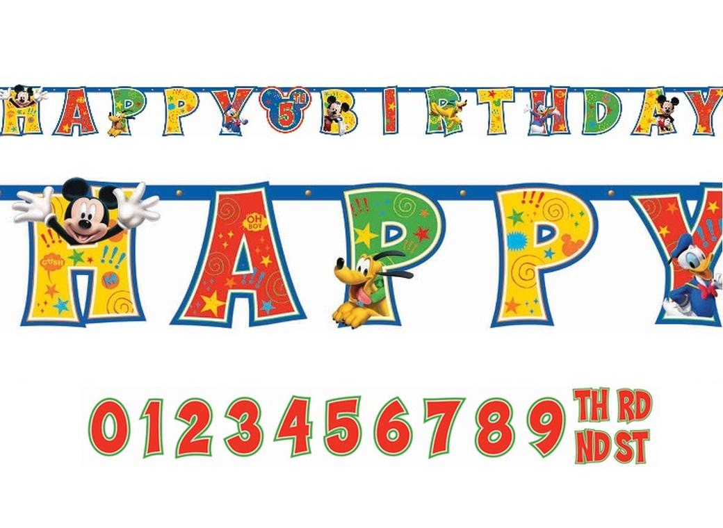 Mickey Mouse - Add An Age Birthday Banner