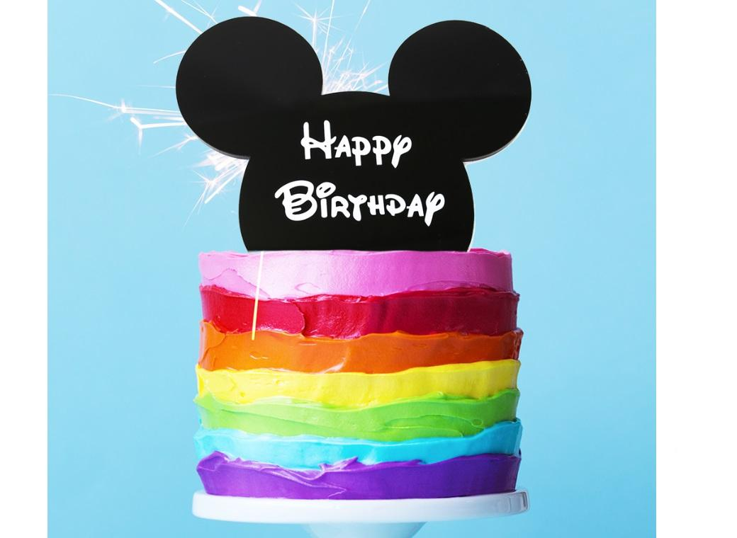 Mouse Ears Cake Topper Black