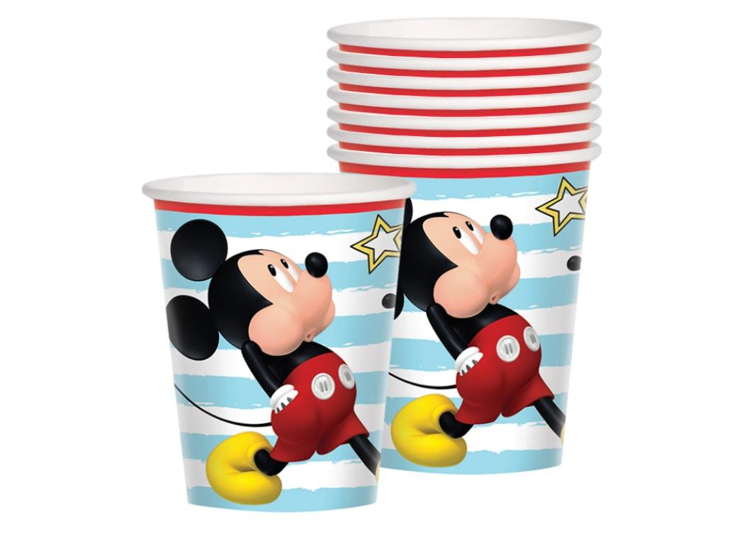 Mickey Mouse Cups 8pk