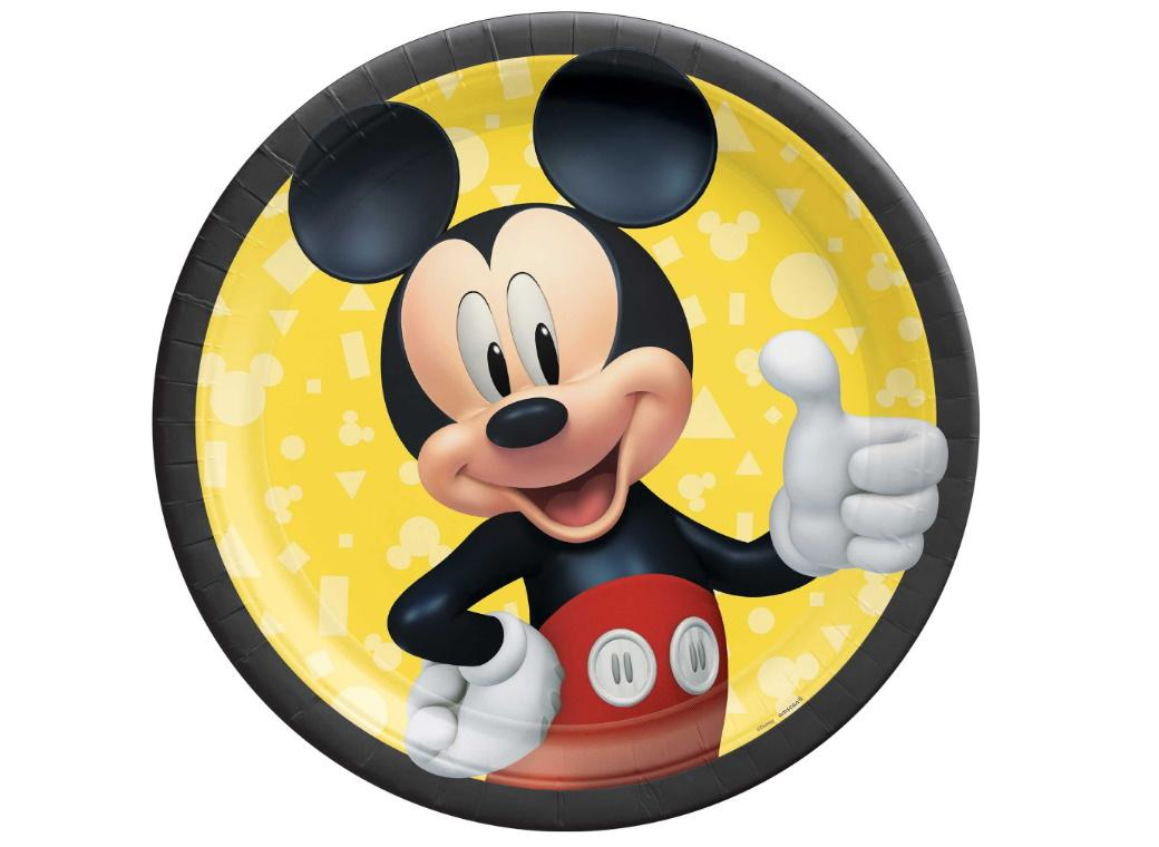 Mickey Mouse Dinner Plates 8pk