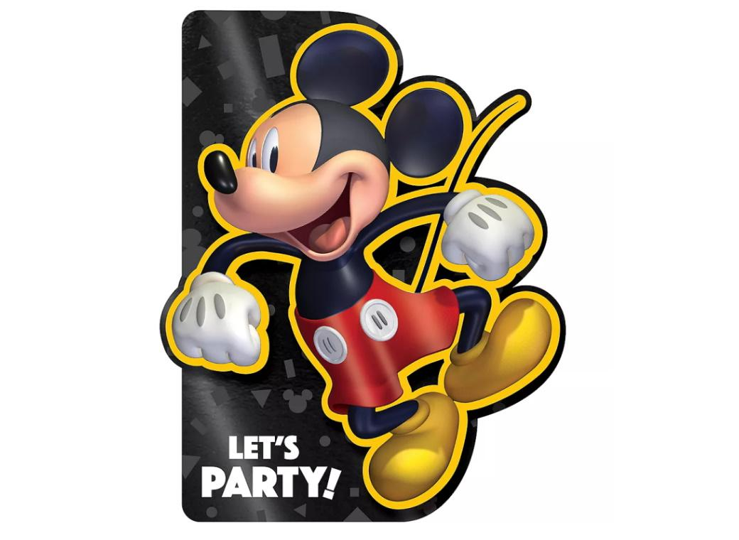 Mickey Mouse Forever Deluxe Invitations 8pk
