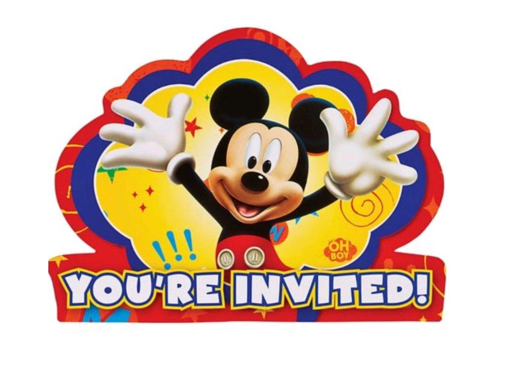 Mickey Mouse Invites - 8pk