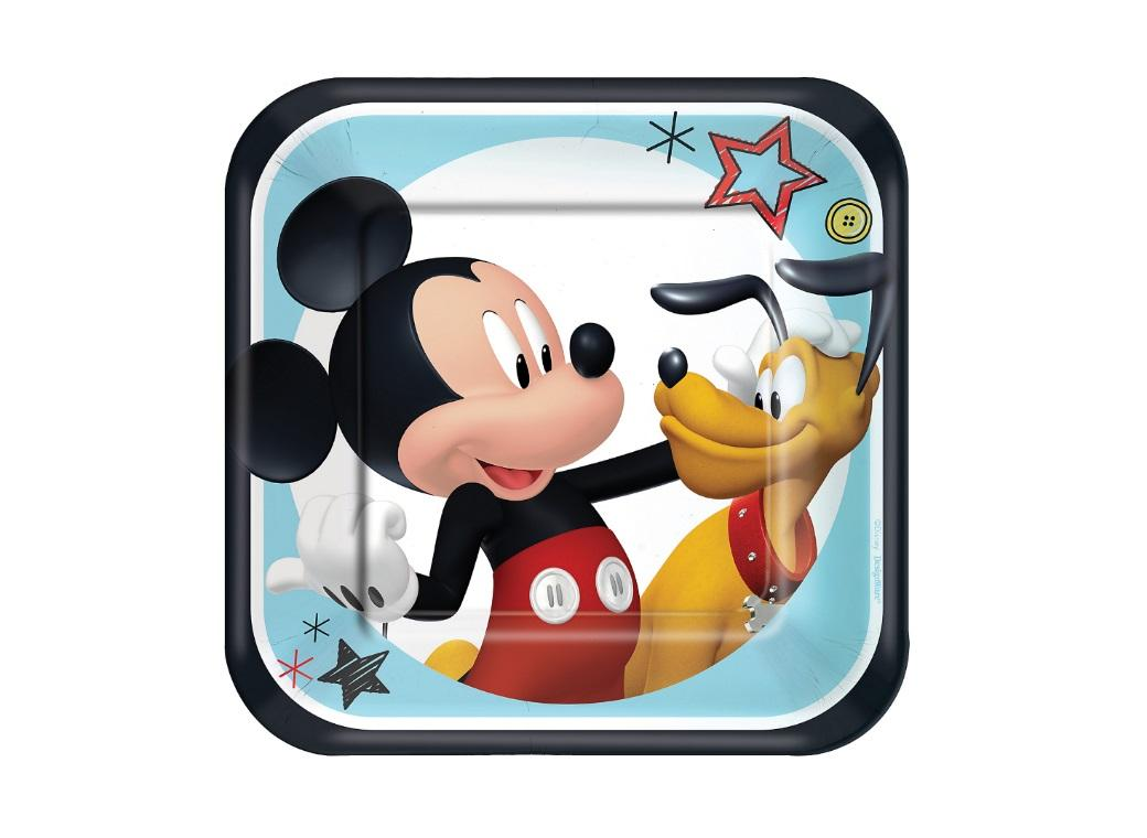 Mickey Mouse Lunch Plates 8pk