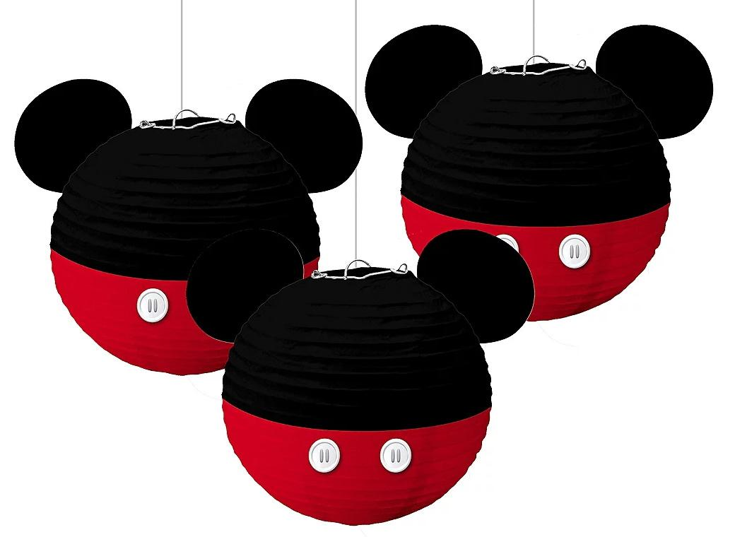Mickey Mouse Forever Paper Lanterns 3pk