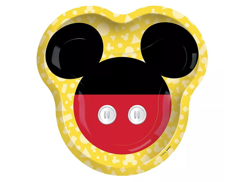 Mickey Mouse Forever Shaped Plates 8pk