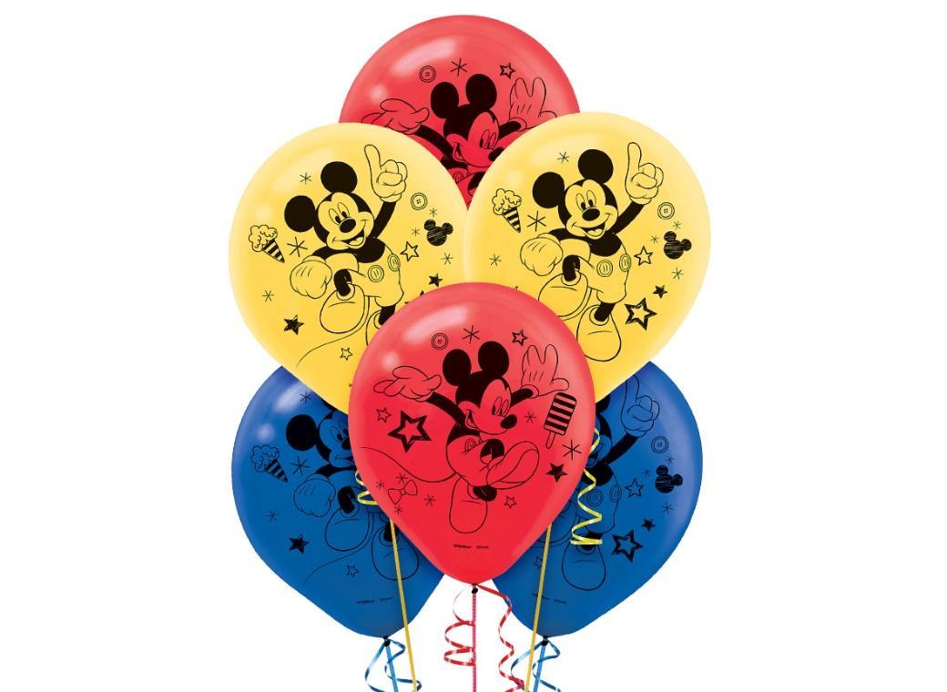 Mickey Mouse Balloons 6pk
