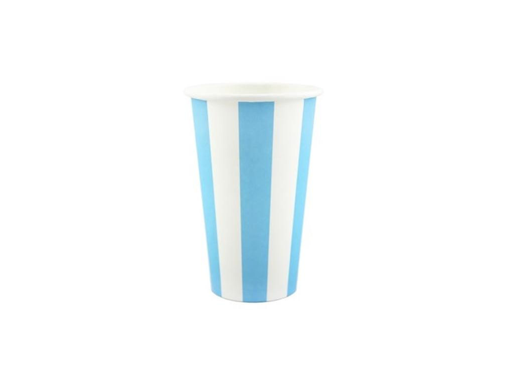 Milk Shake Cups - Blue Stripes LAST ONE
