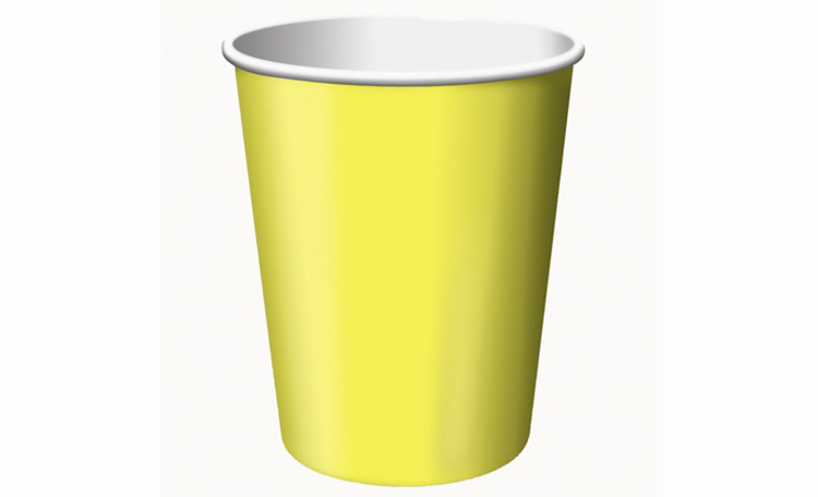Paper Cups 12pk - Lemon