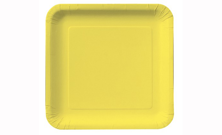 Dinner Plate Square - Lemon 12pk