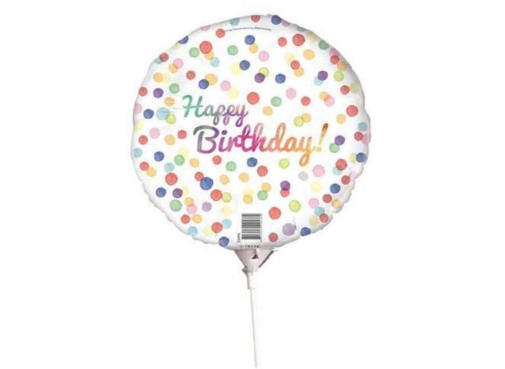Mini Foil Balloon - Confetti Birthday