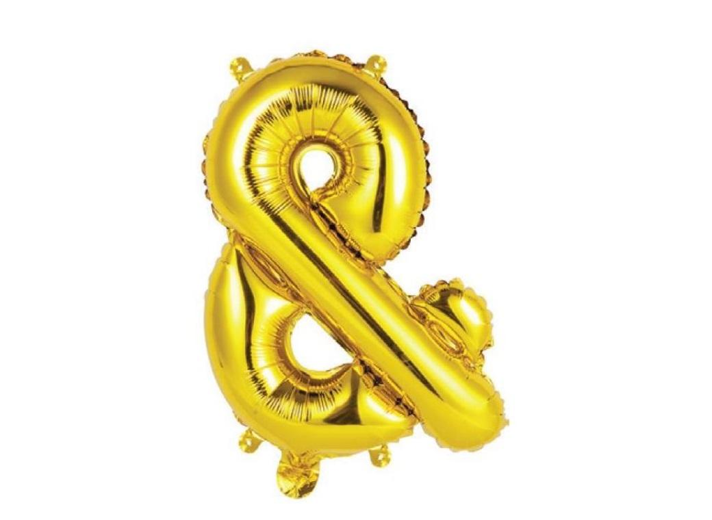 Mini Gold Foil Balloon - & Symbol