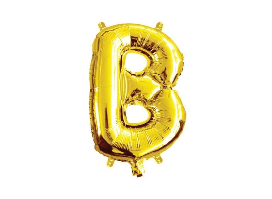 Mini Gold Foil Balloon - Letter B