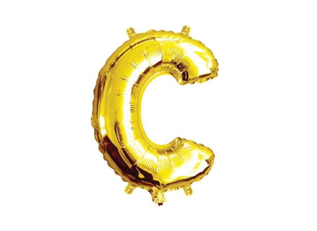 Mini Gold Foil Balloon - Letter C