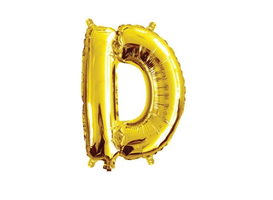 Mini Gold Foil Balloon - Letter D
