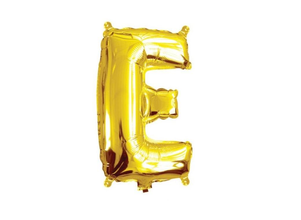 Mini Gold Foil Balloon - Letter E