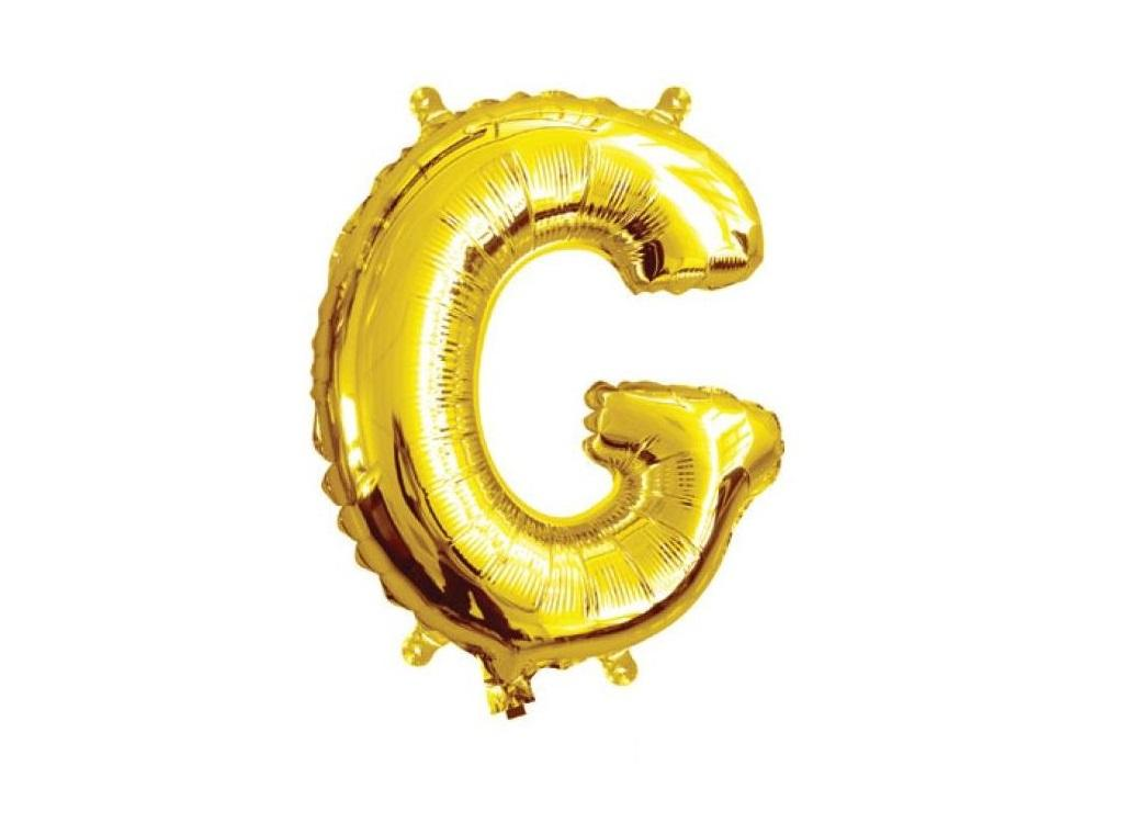 Mini Gold Foil Balloon - Letter G
