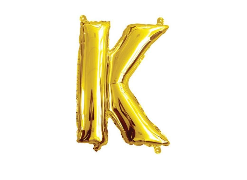 Mini Gold Foil Balloon - Letter K