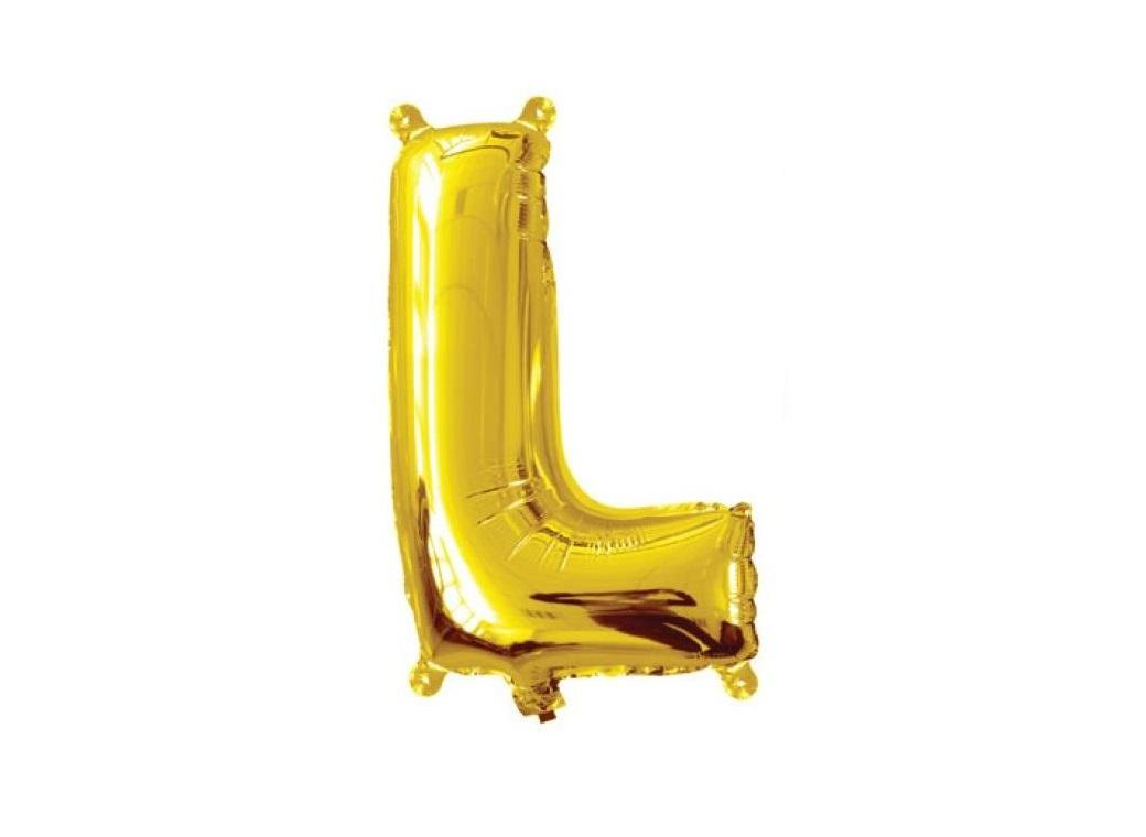 Mini Gold Foil Balloon - Letter L