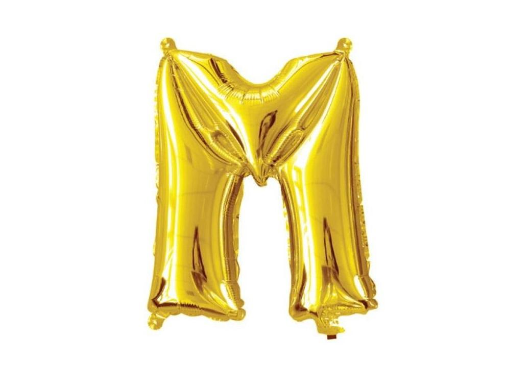 Mini Gold Foil Balloon - Letter M
