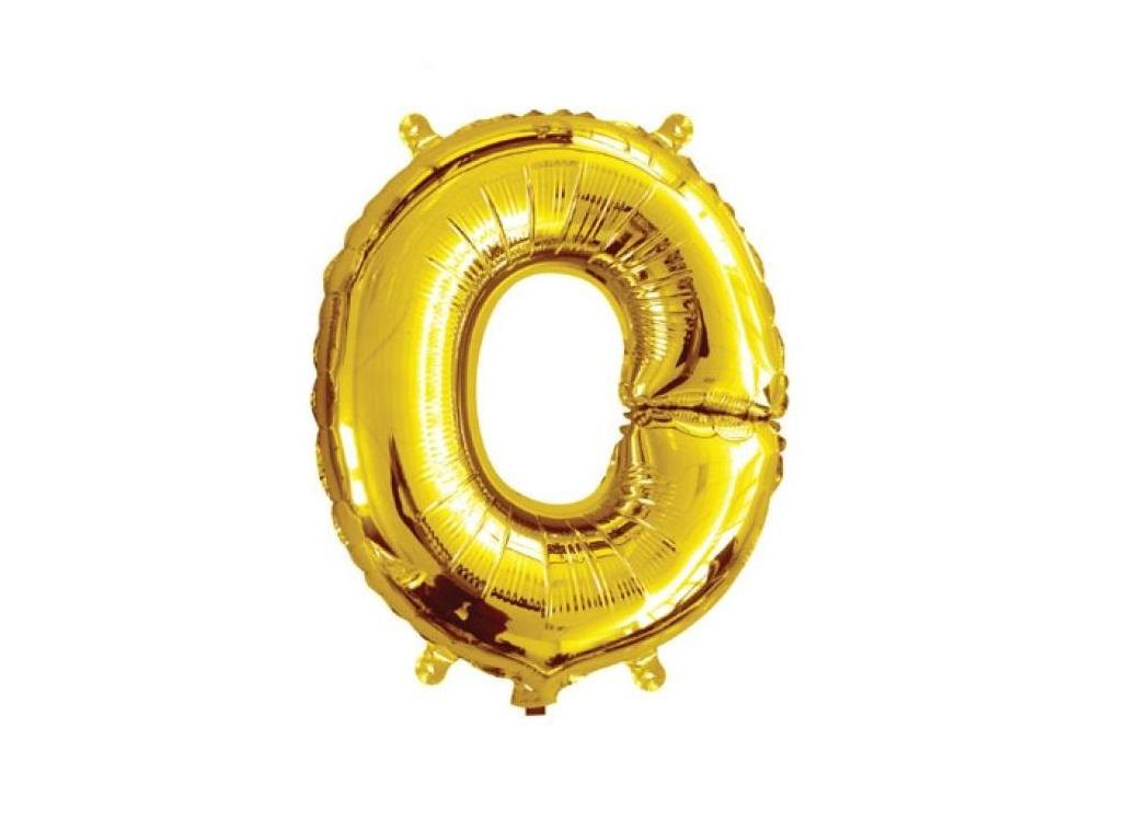 Mini Gold Foil Balloon - Letter O