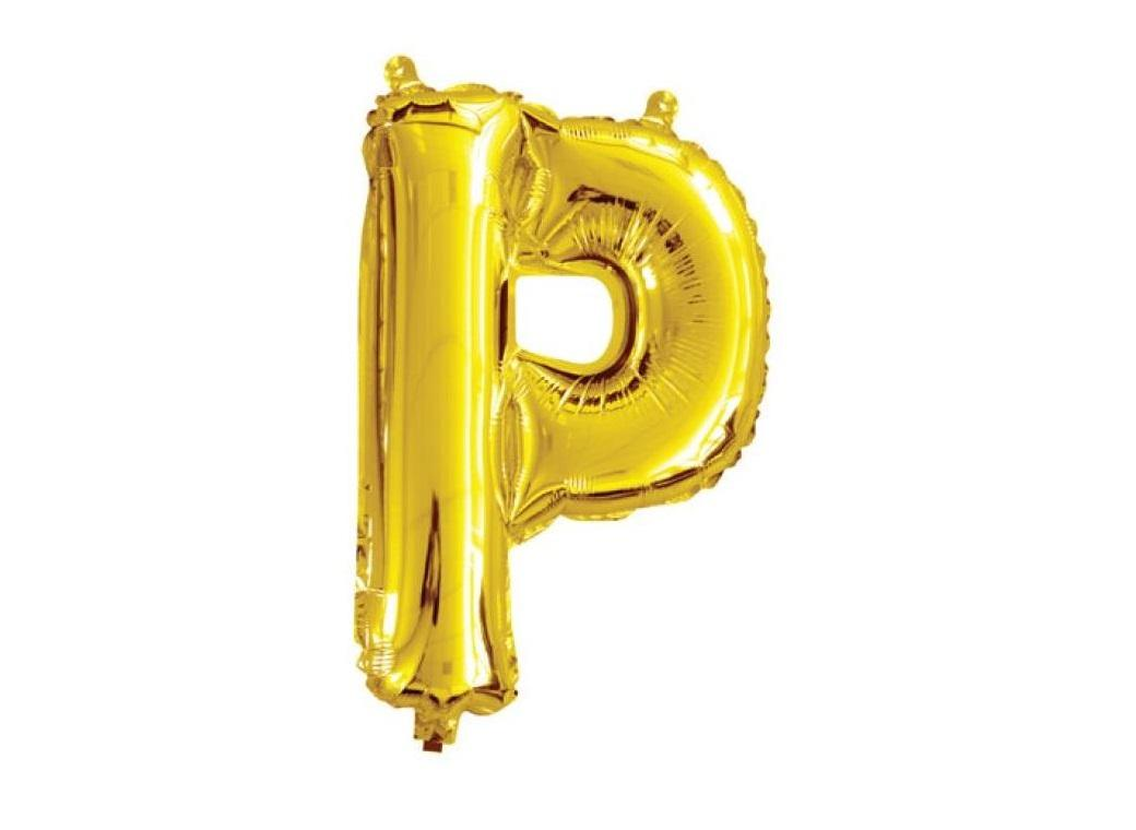 Mini Gold Foil Balloon - Letter P