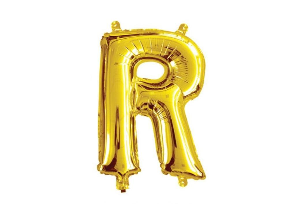 Mini Gold Foil Balloon - Letter R