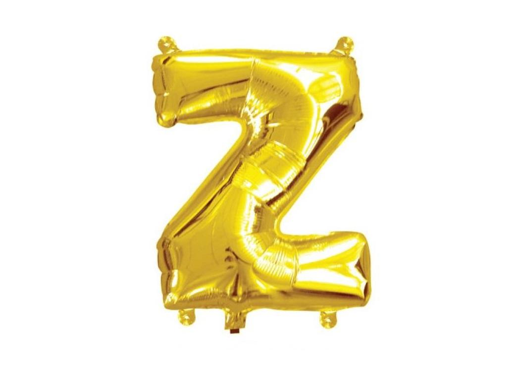 Mini Gold Foil Balloon - Letter Z