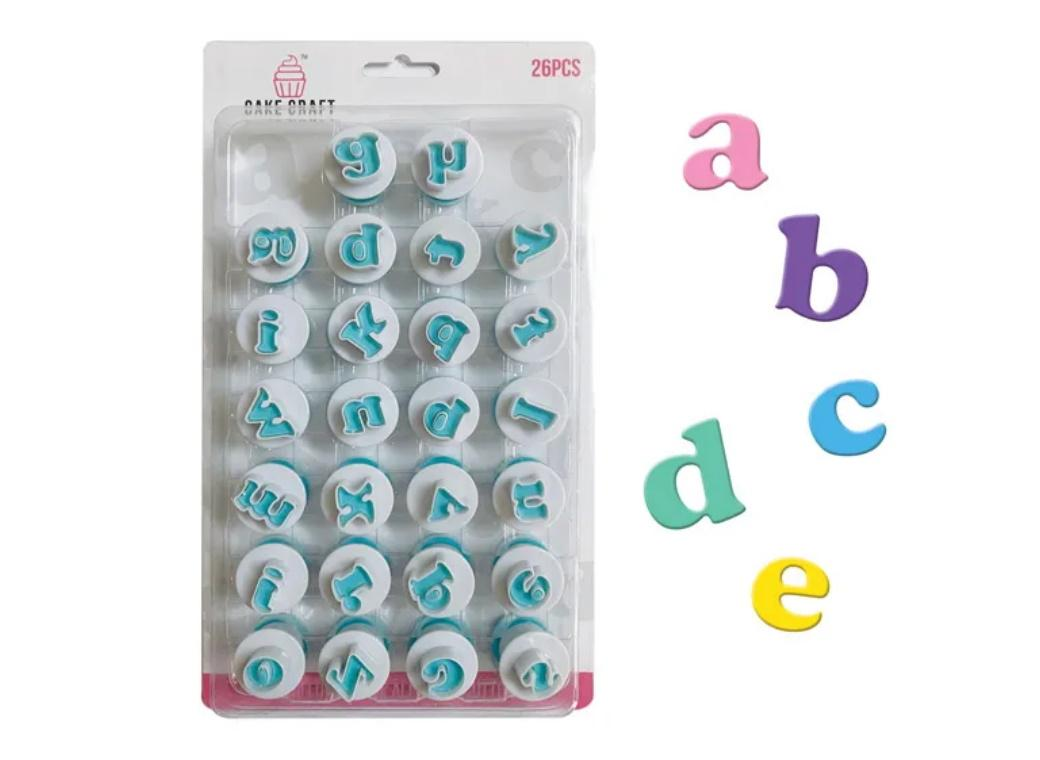 Mini Alphabet Plunger Cutters - Lowercase