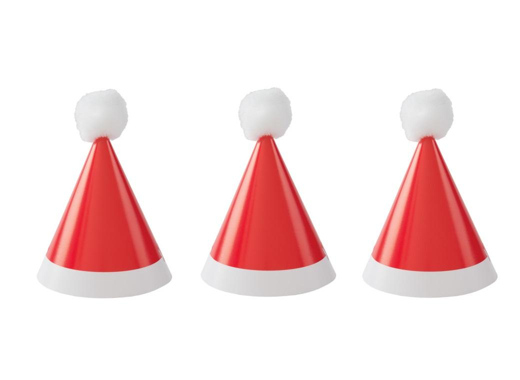 Mini Santa Party Hats 8pk