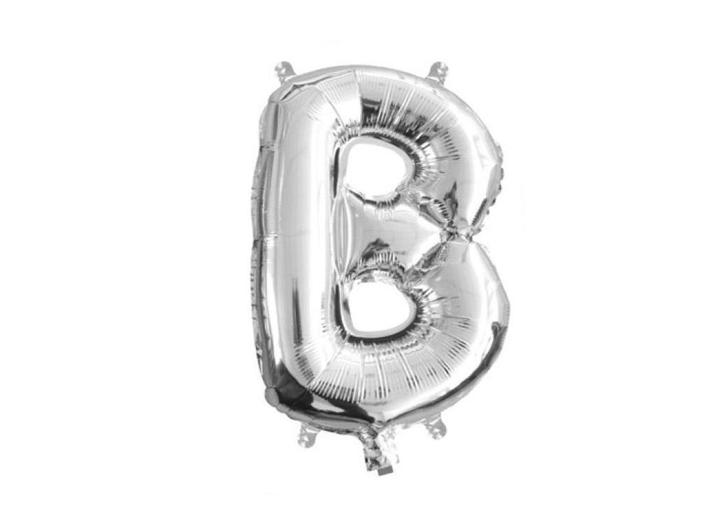Mini Silver Foil Balloon - Letter B