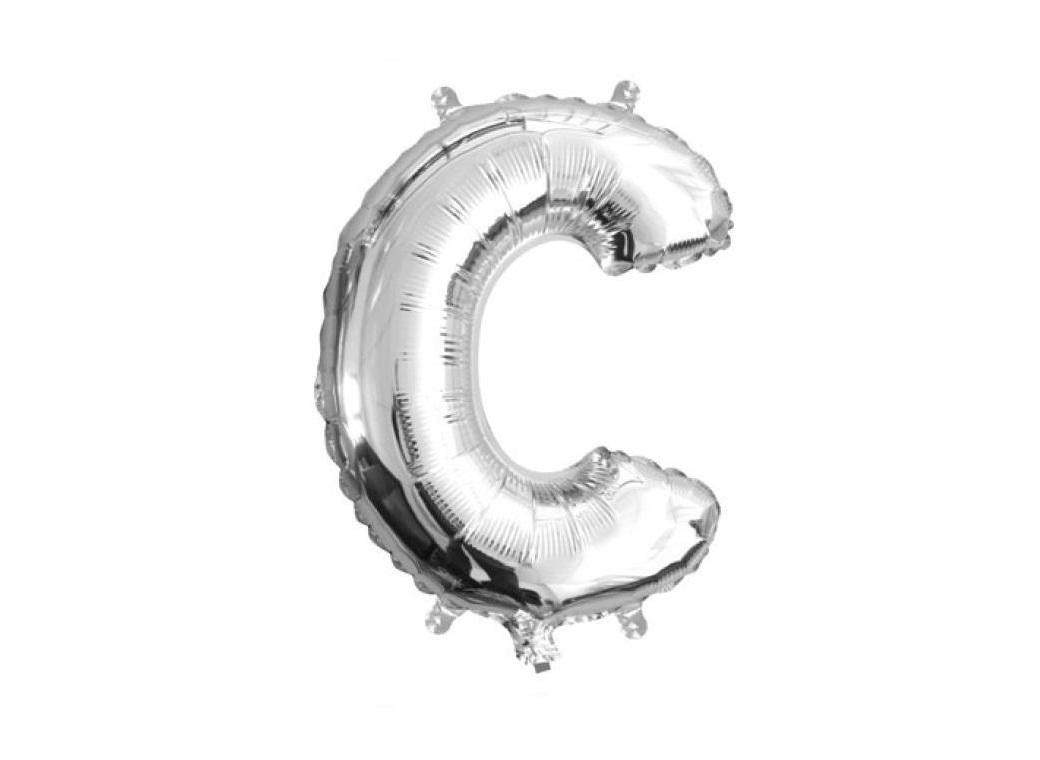 Mini Silver Foil Balloon - Letter C