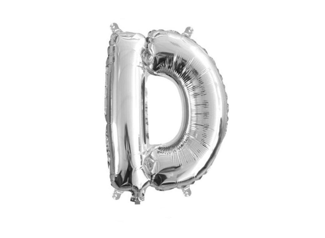 Mini Silver Foil Balloon - Letter D