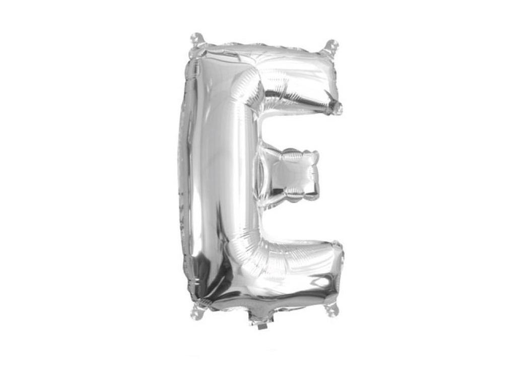Mini Silver Foil Balloon - Letter E